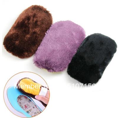Free Shipping Soft Imitation Wool Shoes Care Tool Shoe Cleaning Polishing Brush Cloth Gloves A2908 xno2m(China (Mainland))