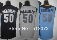 Memphis #50 Zach Randolph Men's Authentic Home White/Road Navy/Alternate Blue Basketball Jersey