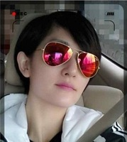 Is large sunglasses blue film green film red film membrane reflective sunglasses