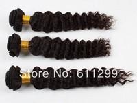 queen Virgin human peruvian hair extensions bundles deep curl products 3pcs/lot off black 1b free shipping