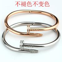 Card screws Nail Bracelet Bangles Female Rose Gold  Jewelry