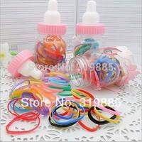10 bottle/lot super lovely hair Accessory Bottle rubber band Baby girl Ribbon Hair Elastic Hair Bands 30 pcs/bottle