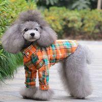 1 PC 2014 Spring Pet Dog Plaid Shirts Design Clothing Puppy Clothes XS,S,M,L,XL Mix Color WT160