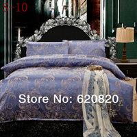 Home Textile comforter sets Romantic Purple Jacquard high-grade cotton duvet cover bed sheet 4pcs Bedding Supplies Mix order