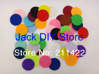 25colors 1000pcs/lot 100pcs/color/bag 15mm Colorful Felt Pads Circle for you DIY Free shipping YOU PICK 10 COLORS