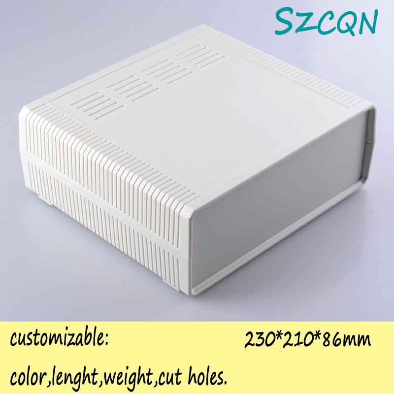 plastic electronic project box abs plastic enclosure custom electronic distribution box 230*210*86mm(China (Mainland))