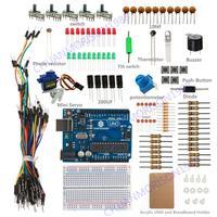 New SunFounder R3 Basic Starter Kit For Arduino UNO R3 MEGA 2560 NANO with Acrylic Breadboard Holder