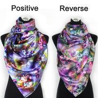 2014 Fashion spring summer Long Voile Scarf women Gradual colors warm Scarf Wrap shawl female design Both sides free shipping