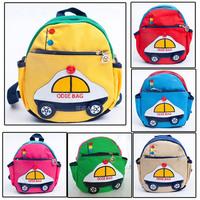 New 2014 Fashion Canvas backpack Car Children Backpacks Kids Boys School Bag Free Shipping