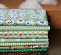 8pcs/set cute design green patchwork cotton set quilting cloth 40cm*50cm/pcs tilda  fat quarter bundle  Free shipping+free gift