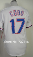 Cheap Sale,#17 Shin-Soo Choo Men's White/red 2014 New Baseball Jersey Stitched baseball best -Free Shipping,wholesale