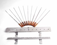 side Gearbox Set with 11 Stainless Steel Kebab Skewers Side Gearbox Sets/Small Cyprus grill mechanism