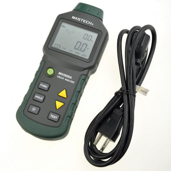 Инструменты измерения и Анализа Mastech GFCI MS5908A mastech ms5908a trms ac low voltage distribution line fault tester rcd gfci sockets testing