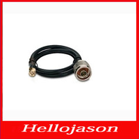 7019 Free shipping for retail by China post  Antenna tieline RG50-3 / RG58U N male head SMA is 0.5 meters