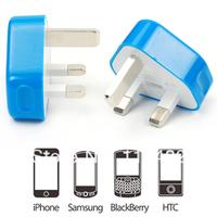 2300MAH HIGH CAPACITY UK Plug AC Wall hight Power Adapter Charger 2300MAH for iPhone 4/ ipad2/3/ ipad mini COLORFUL 3pin plug D