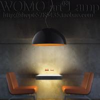 Brief single-head pendant light bar restaurant lamp aluminum semi-cirle pendant light