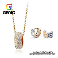 GN S093 18K Gold Plated Luxurious Oval full crystal jewelry sets  Made with Genuine SWA ELEMENTS Austria Crystals!