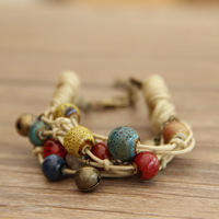 Multi-layer exquisite honey bracelet a pair of national trend ceramic small accessories female