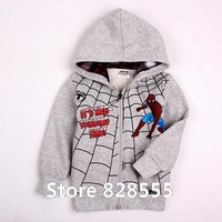 Spring 2014 New Children Hoody 100% Cotton Brand Coats And Jackets For Children Sweatshirt Coat With Boy Spiderman Clothes