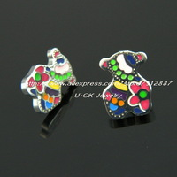 Hot Sale 2014 Fashion 316L Stainless Steel Colorful Bear Earrings for Woman and Girl Fashion Jewelry TL31504