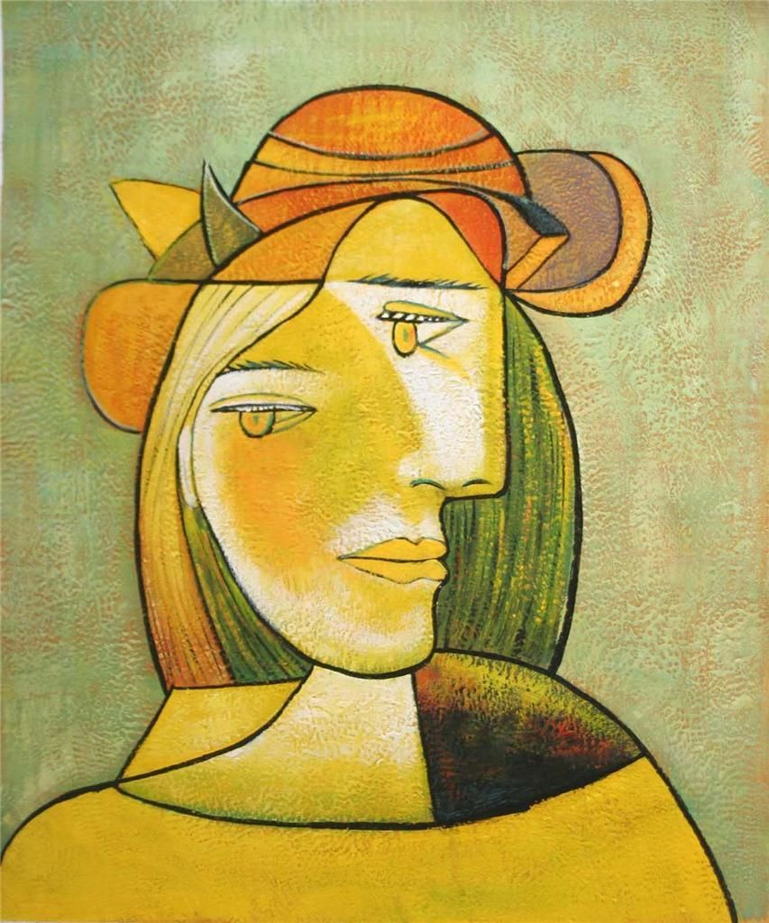 Picasso Cubist Faces Picasso oil painting on canvas