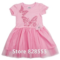 Kid Apparel Kids Party Dress 2014 New Autumn Spring Cotton Brand Baby Party Beautiful Dresses For Lace Girl's Birthday Dress