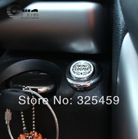 New arrival, Car start button aluminum alloy stickers,  key start button decal stickers 6types to choose m7-m12