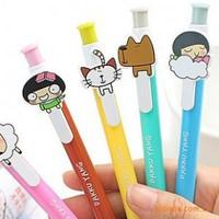 10PCS/LOT South Korea stationery kawaii Dakku Yang cartoon ballpoint pen  /FREE SHIPPING