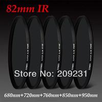 Free shipping Super Slim 82mm IR Filter 82mm Infrared X-Ray IR Pass Filter 680nm+720nm+760nm +850nm +950nm +filter bag