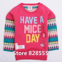 Baby Clothing F3940#  Nove kids clothing girls long sleeve t-shirts with printing