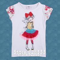 Baby Clothing K2436#  kids wear cotton short sleeve summer  girls t shirts