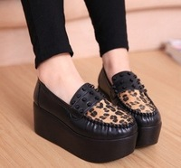 2014 explosion models in Europe and America in spring shoes thick crust muffin slope with high-heeled shoes rivet shoes