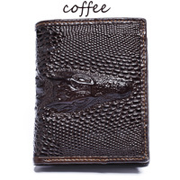 Classic Crocodile head Men Wallet Genuine Leather wallet,Fashion Design Men Wallet Leather