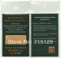 Free Sipping 100pcs/ lot Anti-Radiation Sticker Battery Salvage Patch Radiation Block For Mobile Phone Iphone/Samsung