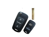 BRAND NEW Replacement Flip Folding Key Shell for Hyundai Accent Remote Key Case Fob 3 Button