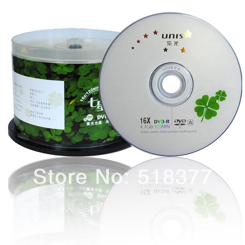 Wholesale Violet Four Leaf Grass Series Dvd R - 4.7g 16x Discs 50 Blank Dvd Dvd Disc(China (Mainland))