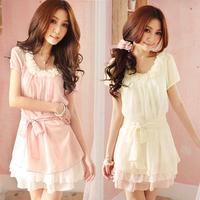 2014 spring DUOYI small fresh summer sweet lace chiffon one-piece dress summer dress juniors