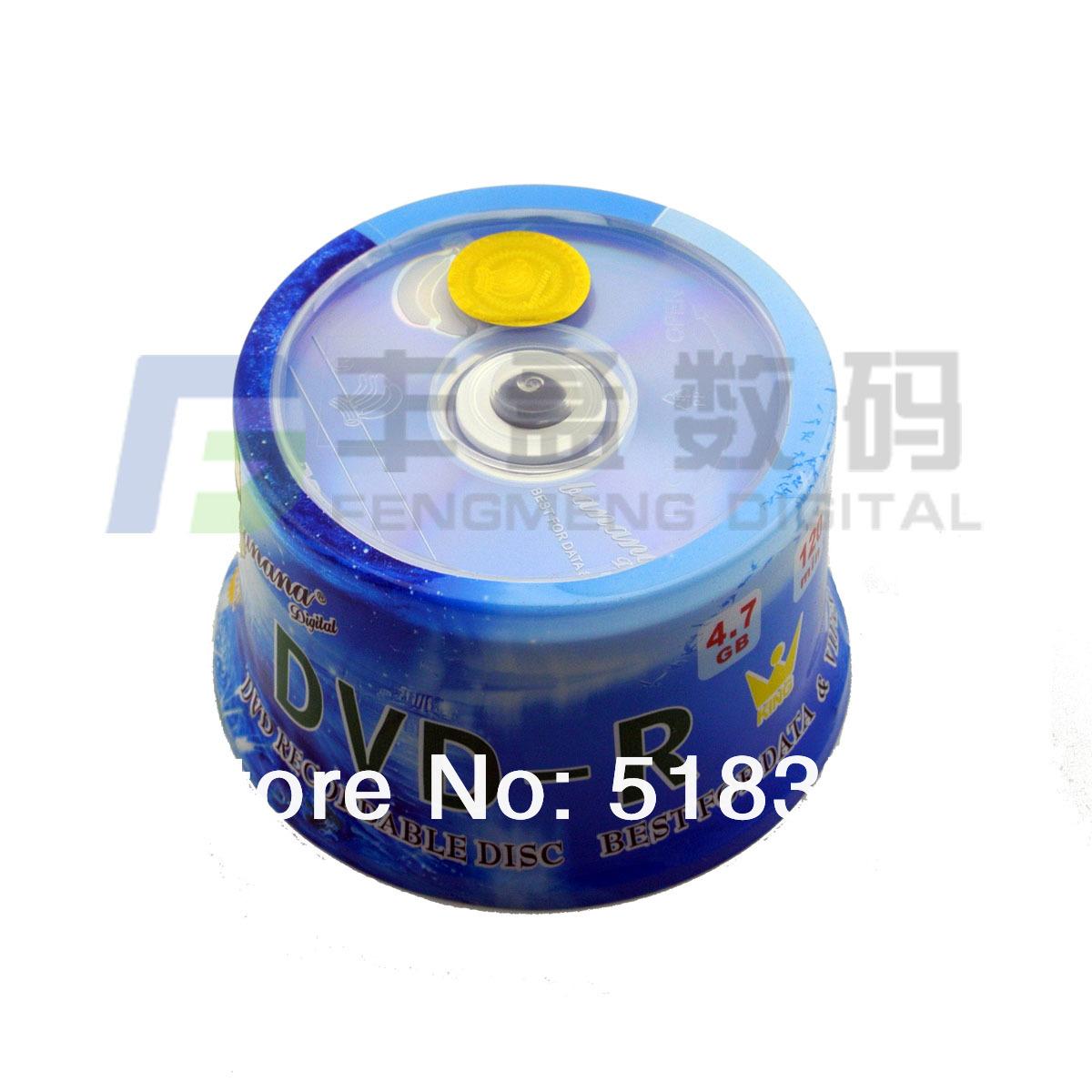 New Arriving Dvd Discs 16X Blank Dvd 4.7G Bottled 50 Pcs Dvd Cd R Dvd-R Dvd Media Fitness(China (Mainland))