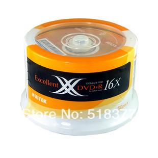 Wholesale Double Ritek X DVD+R 4.7 G Series 16x 120 Min DVD Discs Dvd Cd R 50pcs Bucket 1 Set(China (Mainland))