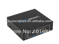 Free shipping+High Quality HDMI Splitter 1x2 HDMI Splitter 1 in 2 out adapter converter