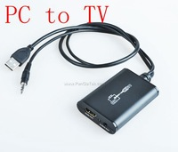 Free Shipping LenKeng LKV325 USB to HDMI Converter PC to TV
