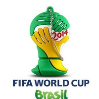Retail Pen Drive Flash Disk 4gb 8gb 16gb 32gb 2014 Brazil World Cup Football USB Flash Drive