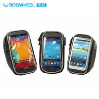 Roswheel PVC/PU Bike Handlebar Bag For Iphone Touch Screen Mobile Phone Bag Black 3 Size (S/M/L)