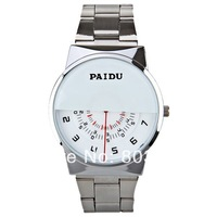 New arrival PAIDU 58939 Round Half-shade Dail Spin Rotating Disc Turn Dial Watch with Stainless Steel Band  wrist watch for men