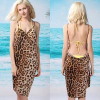 Free shipping+Fancy deep V-neck sunscreen beach dress beach clothes multi-purpose spaghetti strap one-piece dress