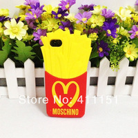 New 3D McDonald's French Fries Chips Soft Silicone Cover Case For Apple iPod Touch 4 4th Free shipping