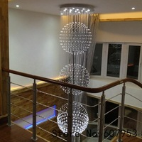 Free shipping  D50cm*H200cm LED Modern Crystal Chandelier Light Fixture Crystal Pendant Ceiling Lamp   sent by DHL or FedEx