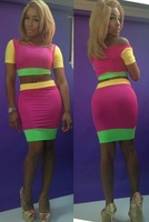 new 2014 spring summer new womens alibaba express knee length dress celebrity club dresses bodycon 2 piece bodycon dress