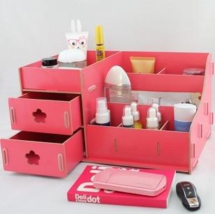 Caixa de armazenamento de cosméticos caixa casa diariamente uso de lã do armário de armazenamento caixa de acabamento de desktop papelaria armazenamento de gaveta(China (Mainland))