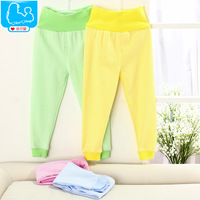 Baby spring baby clothes baby pants 100% cotton newborn clothes high waist protection belly pants spring